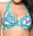 Curvy Kate Birds of Paradise Halterneck Swim Top CS1421