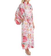 Natori Autumn Printed Silky Charmeuse Long Robe B74002