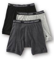 Polo Ralph Lauren Classic Fit Cotton Long-Leg Boxer Brief - 3 Pack LCLB